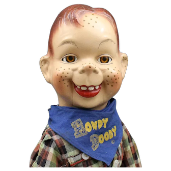 """""""Howdy Doody""""  Composition Doll with Scarf"""
