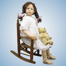 Heidi Plusczok Artist Doll with Teddy Bear