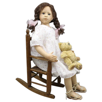 Heidi Plusczok Artist Doll with Teddy Bear