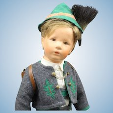 Large 20 Inch - Kathe Kruse Boy Doll