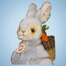 Steiff Rabbit with Carrots in Basket