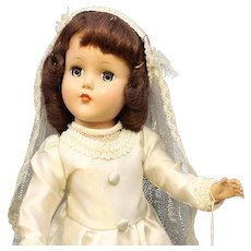 'Nancy Lee' Bride Doll By R & B - Hard Plastic