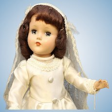'Nancy Lee' Bride Doll By R & B - Hard Plastic
