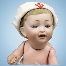 Antique German Character Baby Doll with Sailor Hat - Kestner #211