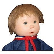 American Cloth Doll by Dianne Dengel with Blue-Red-White Outfit