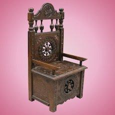 French Breton / Brittney Wooden Miniature Doll Chair