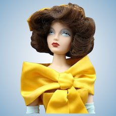 'Gene'  Fashion  Doll  with Yellow  Dress