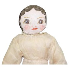 Vintage Cloth Doll with Hand Painted Face