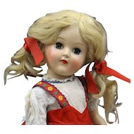 "Vintage ""Toni"" Doll (P91) In Red Dress"