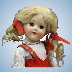 """Vintage """"Toni"""" Doll (P91) In Red Dress"""
