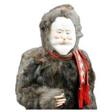 Large 'Faith Wick' Santa with Fur Coat