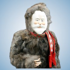 Large 'Faith Wick' Santa with Fur Coat