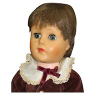 Good Looking Boy Doll in Velvet Suit