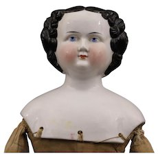 Large Antique German  China   Doll with Old Body