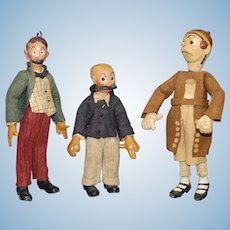 Antique 'Bucherer' dolls - (Group of Three) - - Mutt & Jeff & Maggie