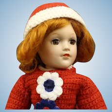 Striking   Red Hair 'Mary Hoyer' Composition Doll