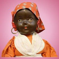 "Black Americana Vintage Composition ""Mammy"" Doll"
