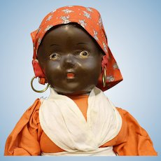 "Black Americana Vintage Composition ""Mammy"" Doll"