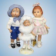 "Effanbee - ""Skippy & Patsy & Patsyette"" - Family Doll - Sold as a Set"