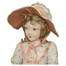 "Very Rare ""Norah Wellings"" Cloth Doll"