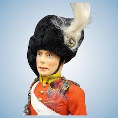"""Vintage English """"King George VI""""   Cloth Doll"""