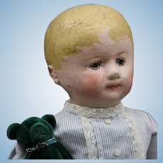 """Perfect Size """"Martha Chase"""" doll with green Teddy Bear"""
