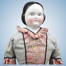 Antique German China Doll - Covered Wagon Style