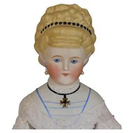 ANTIQUE  GERMAN  PARIAN  DOLL  -  'EMPRESS  AUGUSTA'