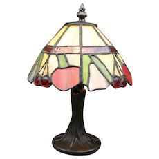 Dale Tiffany 'Cherry' Stained Glass Lamp