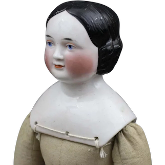 "Antique German China Doll Known as ""Covered Wagon"""