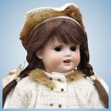 Antique German Bisque Doll with Side Glancing Eyes Marked 'OB'