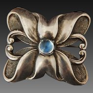 Arts and Crafts BROOCH by Black, Starr and Gorham  Moonstone and Sterling