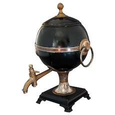 EARLY 19th Century Tea Urn Samovar Tin and Copper AMERICAN English Georgian