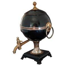 19th C. Tea Urn Samovar Tin and Copper AMERICAN Georgian