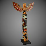 Northwest Coast Native Totem Pole Port Simpson Lax-kw'alaams Tsimshian Bert J Robert Carved