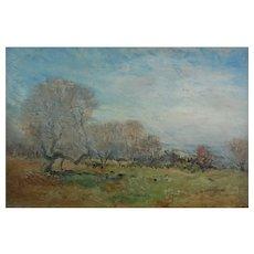 Original Oil Painting Wallace Hester British Art  English Gilt Frame