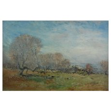 Oil Painting Wallace Hester British 1866 – 1923 Signed Countryside