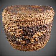Native American Tsimshian Basket Cedar Bark  Flower Decoration