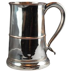 Georgian Sheffield Plate English Tankard C. 1800