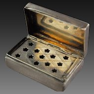 Victorian English Vinaigrette Silver Perfume Box