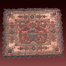 18th Century Textile Embroidery Velvet Chenille European