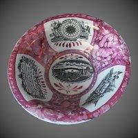 Dixon, Phillips & Co Sunderland  Pink Lustre Ware Bowl Wash Basin