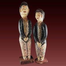 Indonesian LORO BLONYO Wood Folk Art Carvings Wedding Sculpture Dolls