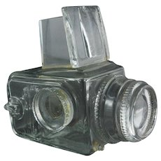 Swedish Art Glass Hasselblad Camera Signed Lindshammar Sculpture
