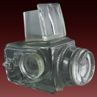 Swedish Art Glass Hasselblad Camera Signed Lindshammar Sculpture