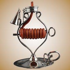 Spanish Wax Jack Chamber Candlestick Valmazan