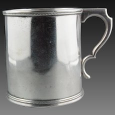 American Coin Silver Cylindrical Mug William Gale and Son New York