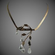 Miriam Haskell Necklace Briolette Crystal Drop