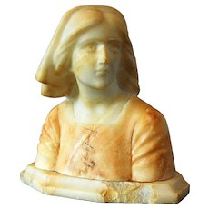Italian Marble Statue Joan of Arc By Bazzanti