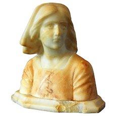 Italian Marble Statue Joan of Arc By Bazzanti